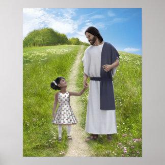 Une promenade avec Jésus - 16 x 20 Poster