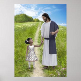 Une promenade avec Jésus - 20 x 28 Poster