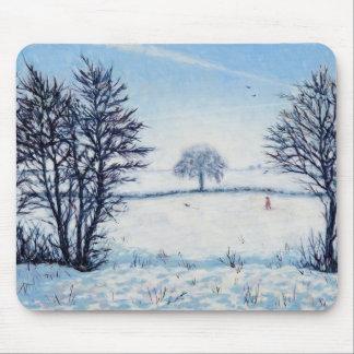 Une promenade d'hivers tapis de souris