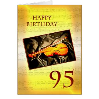 Une quatre-vingt-quinzième carte d'anniversaire