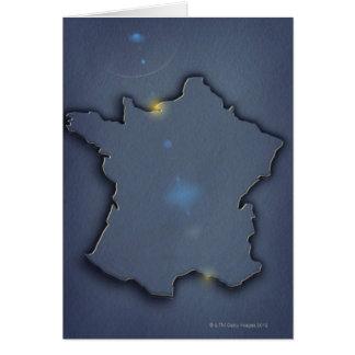 Une représentation bleue simple de carte du