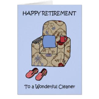 Une retraite heureuse plus propre carte de vœux