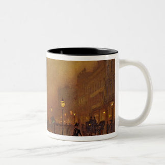 Une rue la nuit (huile sur le panneau) tasses