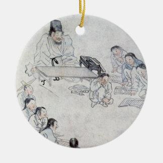 Une salle de classe confucéenne (Sodang) (copie de Ornement Rond En Céramique