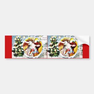 Une salutation de Noël avec l'arbre de Noël décoré Autocollants Pour Voiture