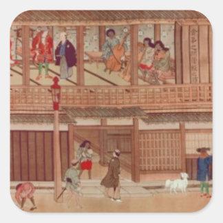 Une scène domestique, rouleau autocollants carrés
