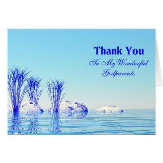 Une scène tranquille vous remercient carte de
