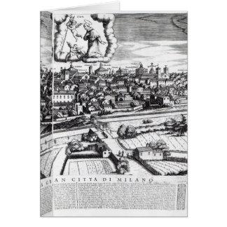Une section d'une carte de Milan, 1640