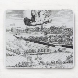 Une section d'une carte de Milan, 1640 Tapis De Souris