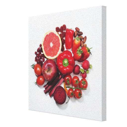 Une s lection des fruits et des l gumes rouges toile tendue sur ch ssis zazzle - Fruits et legumes de a a z ...