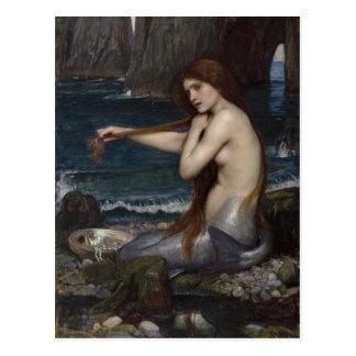 Une sirène par John William Waterhouse Carte Postale
