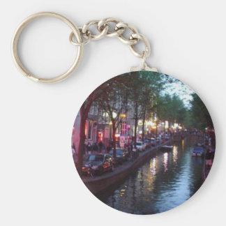 Une soirée à Amsterdam Porte-clé Rond