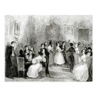 Une soirée à la Chambre de Charles Nodier 1831 Carte Postale