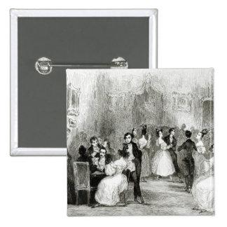 Une soirée à la Chambre de Charles Nodier 1831 Pin's