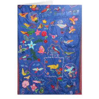 Une tapisserie de carte de voeux d'oiseaux