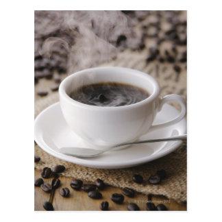Une tasse de café carte postale