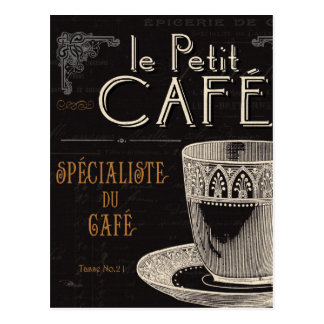 Une tasse de café contemporaine carte postale