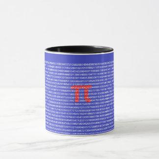 Une tasse de pi (π) grande pour le geek de maths