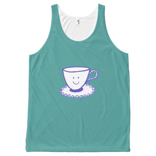 Une tasse intéressante de thé débardeur tout-imprimé