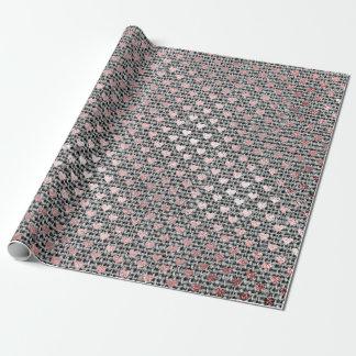 Une toile plus rusée de gris de rose de rose d'or papiers cadeaux noël