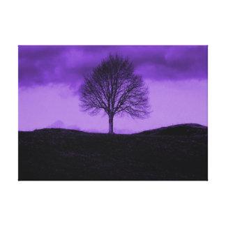 Une toile pourpre solitaire de paysage d'art de br toiles