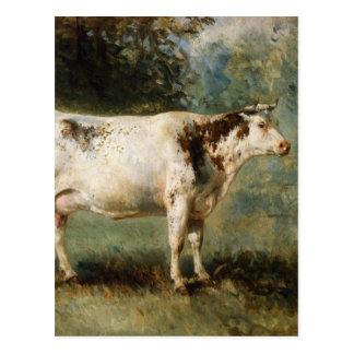 Une vache dans un paysage par Troyon constant Cartes Postales