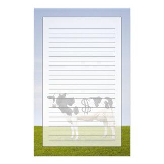 Une vache laitière du Holstein avec des taches sou Motifs Pour Papier À Lettre