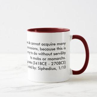 Une vie libre ne peut pas acquérir beaucoup de mugs