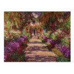 Une voie dans Garden de Monet, Giverny, 1902 Carte Postale