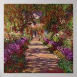 Une voie dans Garden de Monet, Giverny, 1902 Posters