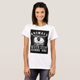 Une voix pour le T-shirt d'animaux