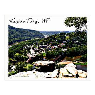 Une vue de ferry moderne de harpistes de jour cartes postales