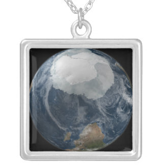 Une vue de la terre 2 pendentif carré