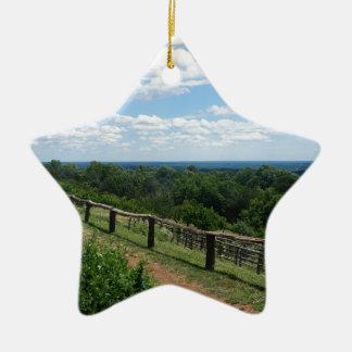 Une vue de Monticello Ornement Étoile En Céramique