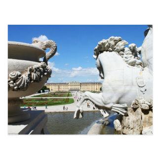 Une vue de palais de Schonbrunn à Vienne, Autriche Carte Postale