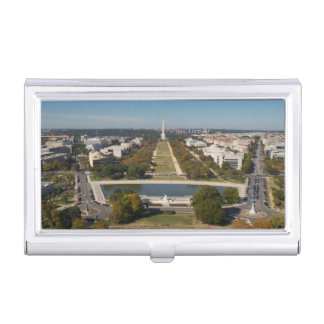 Une vue de paysage de Washington DC Porte-cartes De Visite