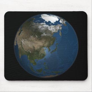 Une vue globale au-dessus de l'Asie avec la glace Tapis De Souris