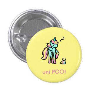 uni bouton drôle de poo badge