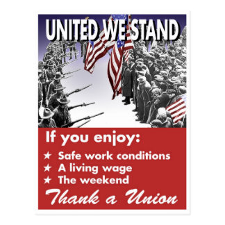 Uni nous nous tenons -- Carte postale de Pro-Union