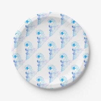 Unicorn 1 assiettes en papier
