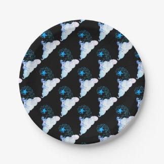 Unicorn black 1 assiettes en papier