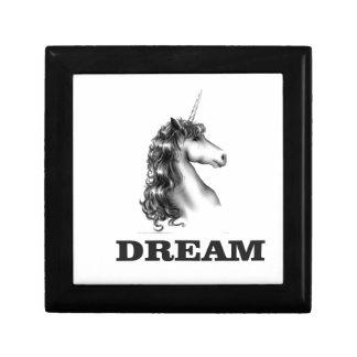unicornf rêveur petite boîte à bijoux carrée