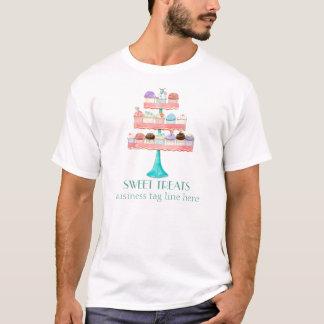 Uniforme d'affaires de boulangerie de cuisson de t-shirt