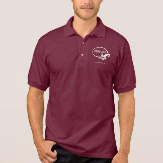Uniforme marron du polo des hommes avec le logo polo
