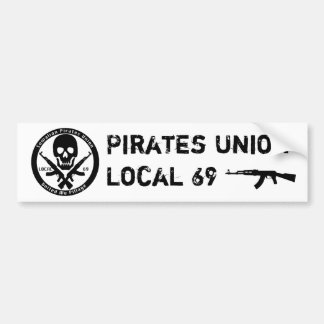Union de pirates - gens du pays 69 autocollant de voiture