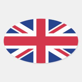 Union Jack britannique Sticker Ovale