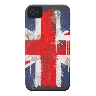 Union Jack - caisse audacieuse de Blackberry Coque Case-Mate iPhone 4