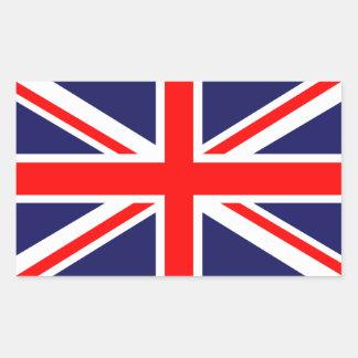 Union Jack classique Autocollant En Rectangle