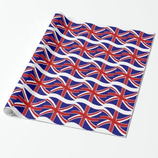 Union Jack de ondulation Papier Cadeau