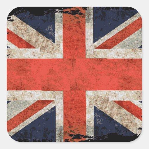 Union Jack déchiqueté âgé Adhésif
